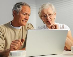 seniors researching insurance